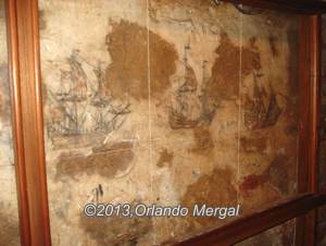 Original drawings by an inmate at the Fort San Cristóbal dungeon, Old San Juan, Puerto Rico