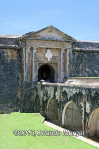 Entrance to Fort San Felipe del Morro in San Juan, Puerto Rico
