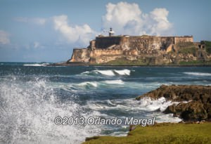 The view of Fort San Felipe del Morro from the other side of the bay is awesome