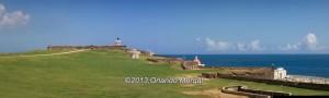 Panoramic view of Fort San Felipe del Morro, Old San Juan, Puerto Rico
