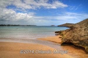 Puerto Nuevo Beach where the pond water returns to the sea.