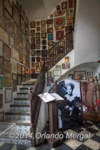There are hundreds of awards adorning her staircase.