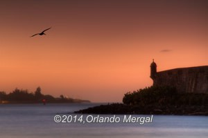 Sunset at San Juan Bay. Click on image to see it larger.