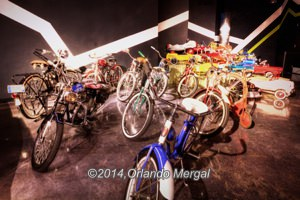 Antique bicycles and carts. Click on image to see it larger.