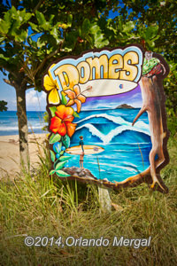 The sign when you arrive at Domes Beach tells the story