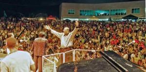 Cuban pianist Chucho Valdés during the 2001 Puerto Rico Heineken Jazzfest