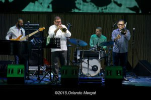 Julito Alvarado, Francisco Alcalá and Eliut Cintrón at the Puerto Rico Heineken Jazzfest 2015
