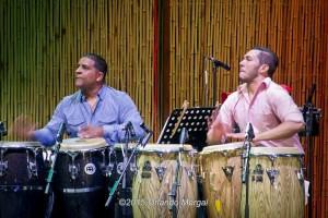 "William ""Kachiro"" Thompson and Enrique Serrano at the Puerto Rico Heineken Jazzfest 2015"