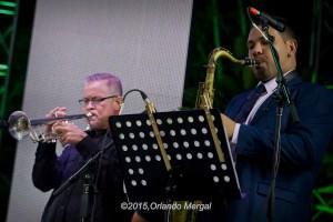 Angie Machado and Víctor Román at the Puerto Rico Heineken Jazzfest 2015