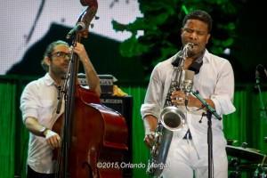 Ricky Rodríguez and David Sánchez at the Puerto Rico Heineken Jazzfest 2015
