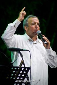 Luis Álvarez after receiving the first George Wein Jazz Impresario Award at the Puerto Rico Heineken Jazzfest 2015