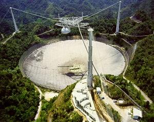 Arecibo RadioTelescopy (Courtesy of NAIC-Arecibo Observatory, an NSF facility.)